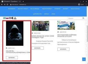 Фанлар академиясига тегишли веб-сайтга ҳакерлик ҳужуми бўлди