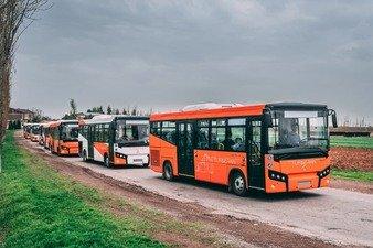 Самарқандда ишлаб чиқарилган автобуслар Қозоғизстонда йўналишларга қўйилди